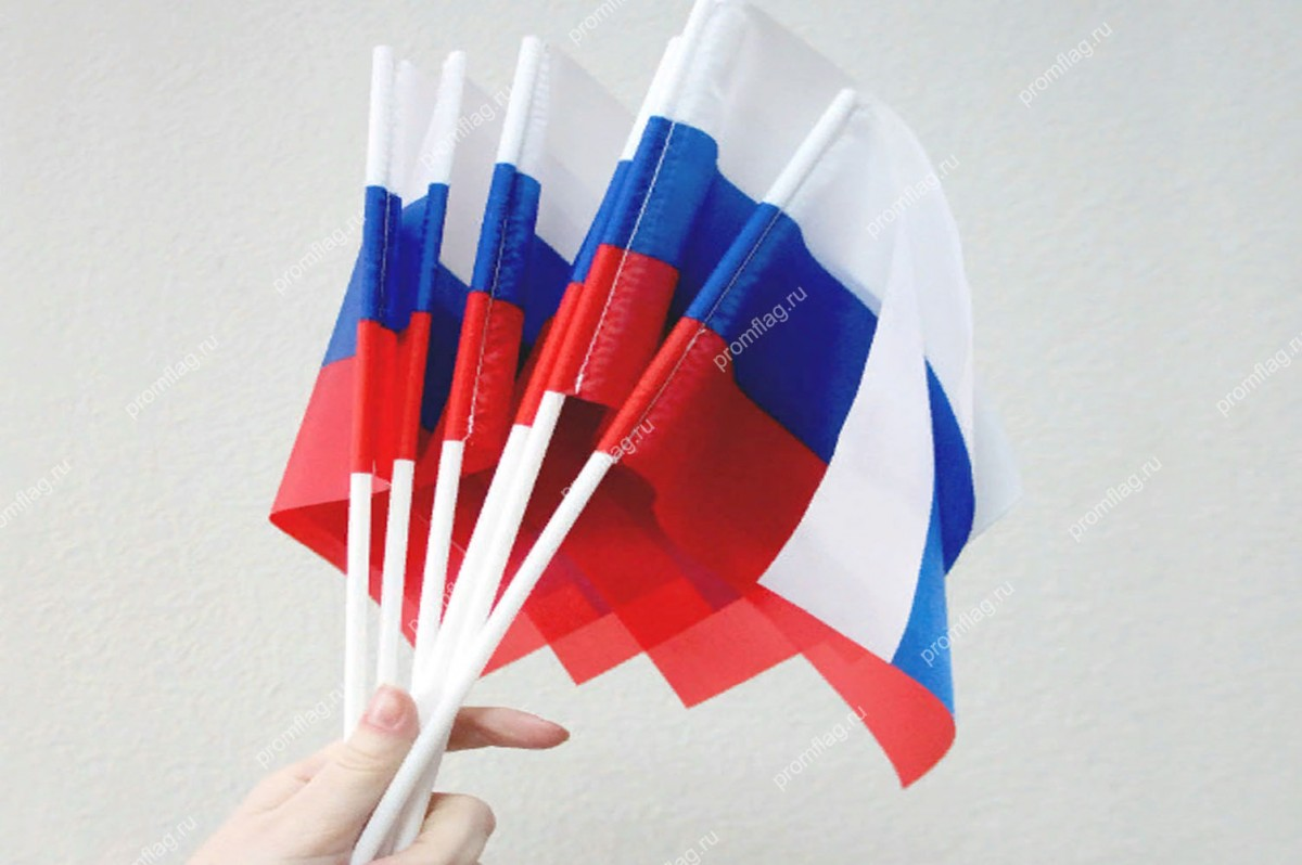 Флажок  на палочке РФ